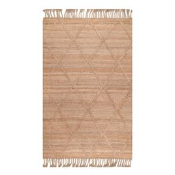 Natural Geometric Braided Jute Area Rug - 4Ftx6Ft by World Market | World Market