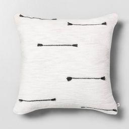 "18"""" x 18"""" Texture Dash Throw Pillow Railroad Gray / Sour Cream - Hearth & Hand with Magnolia | Target"