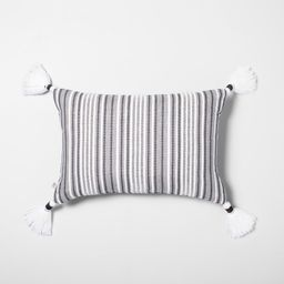 Throw Pillow Jet Gray / Black - Hearth & Hand with Magnolia | Target