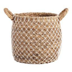 Large Macrame Seagrass Bianca Tote Basket: Natural - Natural Fiber by World Market | World Market