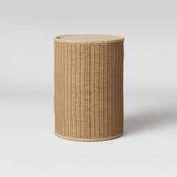 Braeswood Wicker Side Table with Removable Wood Top Brown - Project 62 | Target