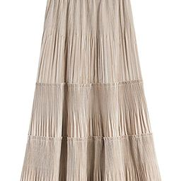 'Jessica' Velvet Pleated Tier Midi Skirt (3 Colors) | Goodnight Macaroon