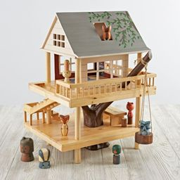 Treehouse Play Set and Wooden Forest Animals + Reviews   Crate and Barrel   Crate & Barrel