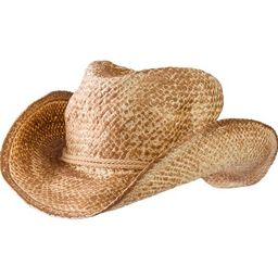 """AMSCAN Straw Cowboy Hat Halloween Costume Accessories for Adults, One Size, 12"""""""" W x 14"""""""" L x 4 1/2""""   Walmart (US)"""