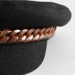Tortoise Chain Wool Baker Boy Cap   & Other Stories