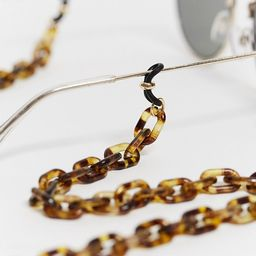 ASOS DESIGN sunglasses chunky chain in tort   ASOS   ASOS (Global)