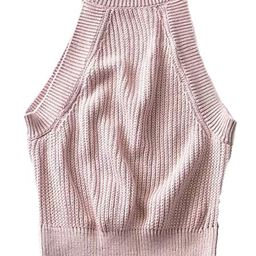 'Isabella' Halter Neck Knitted Crop Top (6 Colors) | Goodnight Macaroon