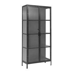Buy Nordal Glass Storage Cabinet - Black   AMARA   Amara (UK)