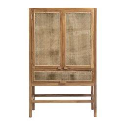 Buy Nordal Teak Open Mesh Cabinet - Nature   AMARA   Amara (UK)