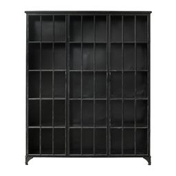 Buy Nordal Downtown Iron Cabinet - Black - 3 Door   AMARA   Amara (UK)