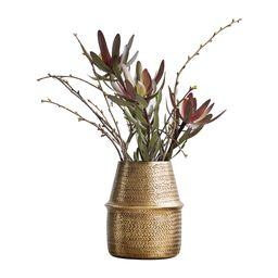 Buy House Doctor Rattan Brass Planter - 19cm | AMARA | Amara (UK)