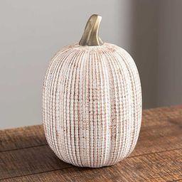White Ceramic Pumpkin, 8 in.   Kirkland's Home