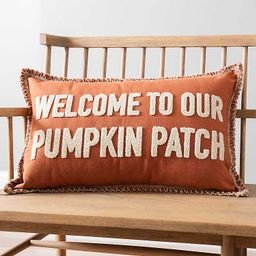 Welcome to Our Pumpkin Patch Accent Pillow   Kirkland's Home