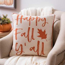 Happy Fall Y'all Leaf Pillow   Kirkland's Home