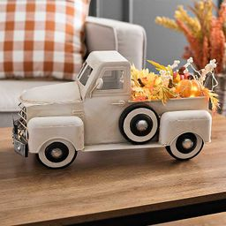 Cream Vintage Truck with Autumn Leaves   Kirkland's Home