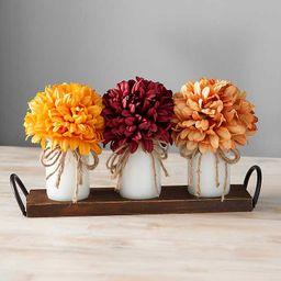 Wooden Ledge Mums Floral Arrangement   Kirkland's Home
