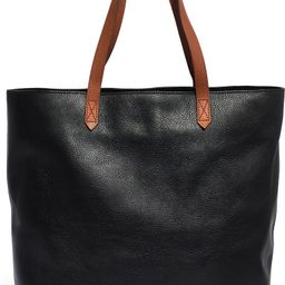 Zip Top Transport Leather Tote | Nordstrom
