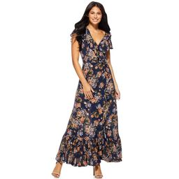 Sofia Jeans by Sofia Vergara Women's Short Sleeve Wrap Maxi Dress | Walmart (US)