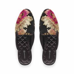 Birdies The Phoebe - Floral Jacquard Slides, Size 5.5, Jacquard   BIRDIES