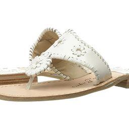 Jack Rogers Jacks Flat Sandal (White) Women's Sandals   Zappos