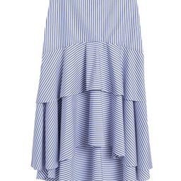 Stripe Poplin High-Low Skirt   Banana Republic (US)