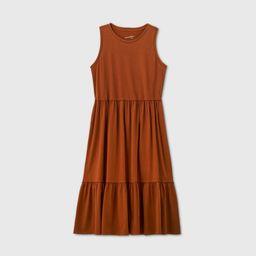 Women's Tiered Tank Dress - Universal Thread Brown XL   Target