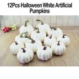 1 set Halloween Harves White Artificial Pumpkins Fall Thanksgiving Decor | Walmart (US)