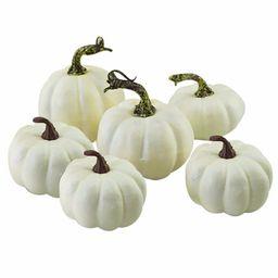 matoen 6pcs/set Halloween White Artificial Pumpkins Fall Thanksgiving Decor | Walmart (US)