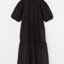 Smock It to 'Em Puff Sleeve Midi Dress   NastyGal (US & CA)