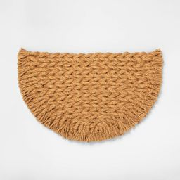 Half Circle Braided Coir Doormat - Hearth & Hand with Magnolia | Target