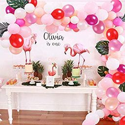 Balloon Garland Arch Kit 112 PCS Hot Pink Latex Party Balloons 7 Colors Pack for Baby Shower Wedding   Walmart (US)