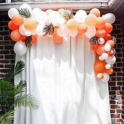 White Orange Balloons 10In 101PCS Latex Party Balloons Arch Kit for Party Decoration Wedding Birthda   Walmart (US)