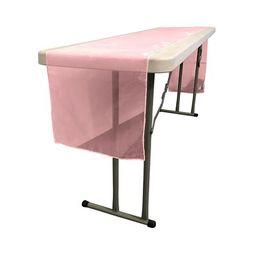 Ebern Designs Bosnjak Sheer Organza Table Runner Colour: Hot Pink   Wayfair North America