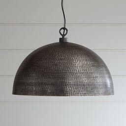 Rodan Hammered Metal Dome Pendant Light   Crate & Barrel