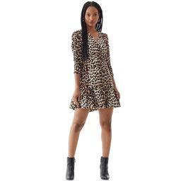 Scoop Women's Scrunch Sleeve Printed Dress   Walmart (US)