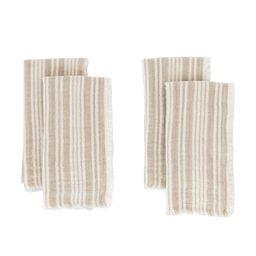 Fringed Taupe Cotton Napkins (Set of 4)   McGee & Co.
