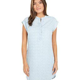 Vineyard Vines Printed Chambray Margo Dress (Chevron/Jake Blue) Women's Clothing | Zappos