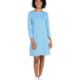 Vineyard Vines Sankaty Boatneck Shift Dress (Bimini Blue/White) Women's Dress | Zappos