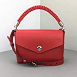 Genuine Leather Handbags for Women 7.9 inch - Red Small Crossbody Bag with Top-Handle - Mini Handmad | Amazon (US)