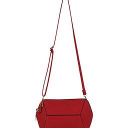 AR New York Women's Handbags Red - Red Hexagon Crossbody Bag | Zulily