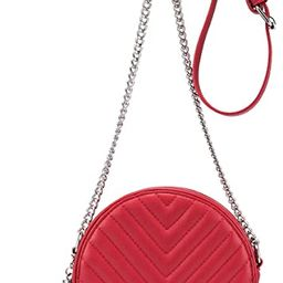 Crossbody Bags for Women Round Purse Quilted purse, Faux Leather, with Tassel | Amazon (US)