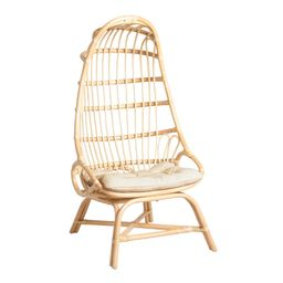 Natural Rattan Fallon Cocoon Chair with Cushion by World Market   World Market