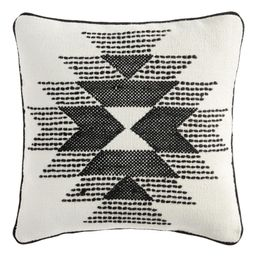 Black and Ivory Rise Indoor Outdoor Patio Throw Pillow by World Market   World Market