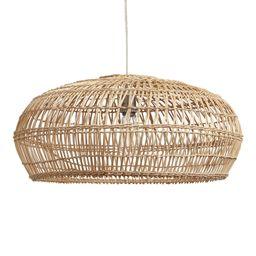 Bamboo Open Weave Orb Pendant Shade: Black - Natural Fiber by World Market   World Market