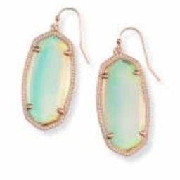 Elle Rose Gold Drop Earrings in Dichroic Glass | Kendra Scott