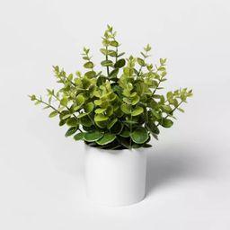 """12"""" x 10"""" Artificial Eucalyptus Plant Arrangement in Pot White - Project 62™   Target"""
