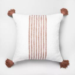 """18"""" x 18"""" Center Stripes Throw Pillow - Hearth & Hand™ with Magnolia   Target"""