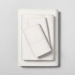 Microstripe Printed Organic Sheet Set - Hearth & Hand™ with Magnolia   Target