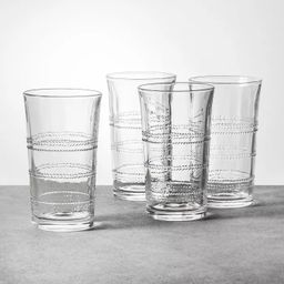 Embossed Glass Drinkware Tall - Hearth & Hand™ with Magnolia   Target
