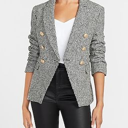 Houndstooth Novelty Button Double Breasted Blazer | Express